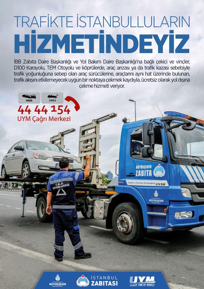 İstanbul Büyükşehir Belediyesi'nin Çekici ve Vinç Hizmeti
