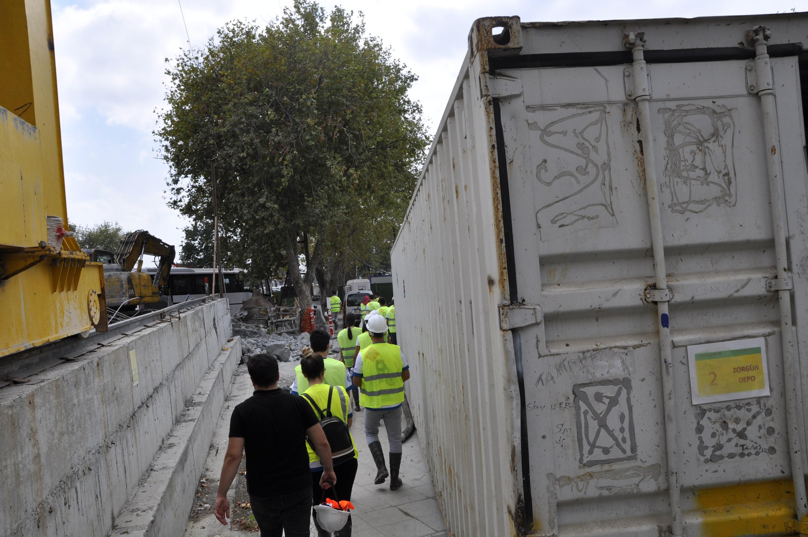 """Avrupa Hareketlilik Haftası Kapsamında """"Metro Şantiyesi Teknik Gezisi"""" Düzenlendi"""