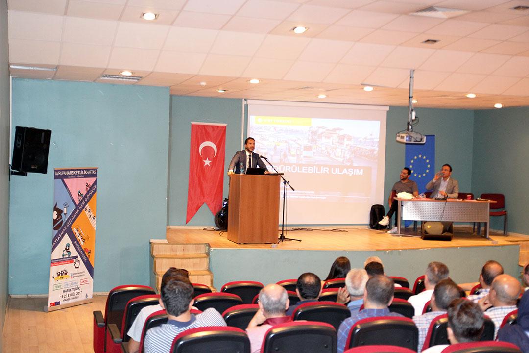 """""""Avrupa Hareketlilik Haftası"""" Kapsamında Yıldız Teknik Üniversitesi'nde Söyleşi Düzenlendi"""
