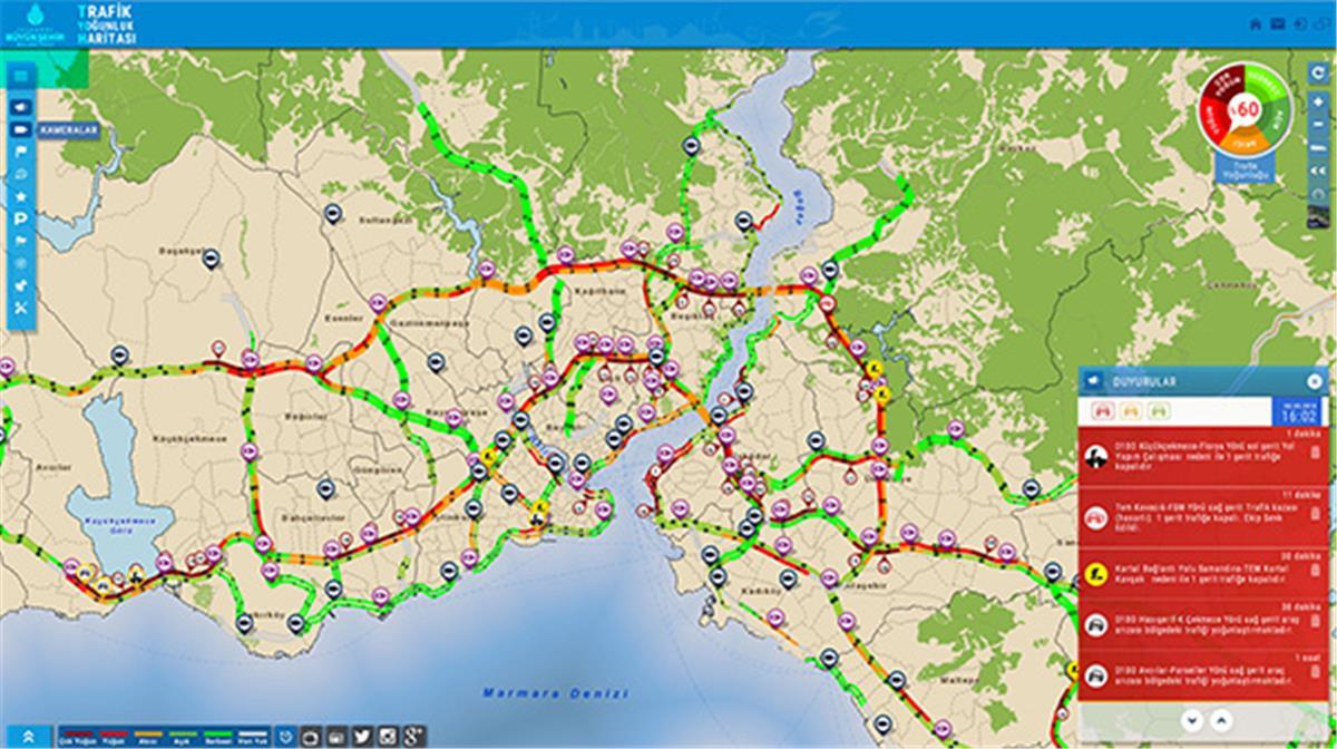 Trafik Yoğunluk Haritası